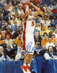 Deron Williams Autographed Illinois 8x10 Photo