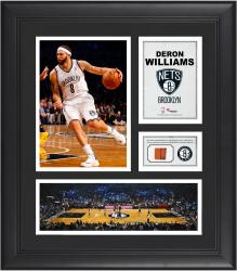 "Deron Williams Brooklyn Nets Framed 15"" x 17"" Collage with Team-Used Ball"
