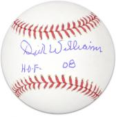 Dick Williams Autographed MLB Baseball HOF 08 Inscription - Mounted Memories