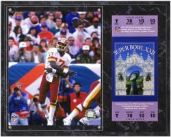 Washington Redskins Super Bowl XXII Doug Williams Plaque with Replica Tickets