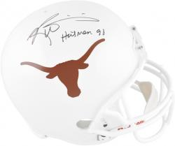 Ricky Williams Texas Longhorns Autographed Riddell Pro Line Authentic Helmet with Heisman 98 Inscription - Mounted Memories