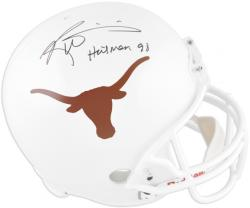 Ricky Williams Texas Longhorns Autographed Riddell Replica Helmet with Heisman 98 Inscription - Mounted Memories