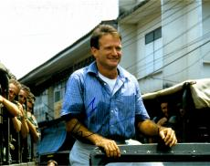 Robin Williams Autographed 11'' x 14'' Blue Shirt Smiling Photograph