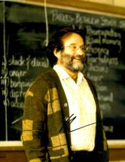 Robin Williams Autographed 11'' x 14'' In Classroom Photograph