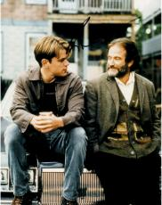 Robin Williams Autographed 11'' x 14'' With Matt Damon Vertical Photograph