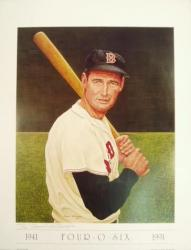 "Ted Williams Boston Red Sox 20"" x 26"" Lithograph - Mounted Memories"