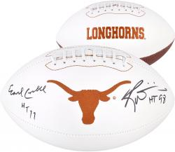 Earl Campbell & Ricky Williams Signed Football