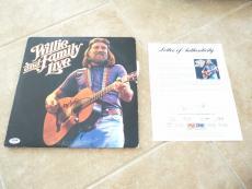 Willie & Bobbie Nelson Signed Autographed Live LP Album Record PSA Certified