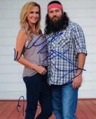 Willie & Korie Robertson Signed Autograph 8x10 Photo Duck Dynasty COA VD