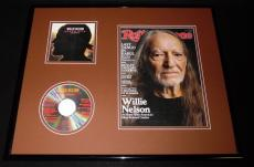 Willie Nelson 16x20 Framed 2014 Rolling Stone Magazine & Super Hits CD Display