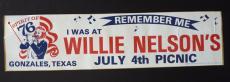 Willie Nelson 1976 4th of July Picnic Unused Bumper Sticker Waylon Jennings
