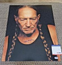 Willie Nelson #5 HUGE  IP Signed Autoographed 16x20 Photo PSA Certified