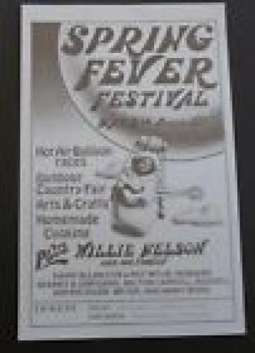 Willie Nelson 7x11 100% Original Concert Flyer Poster May 8th 1976 Prairie Hill