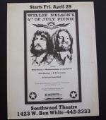 Willie Nelson 8.5x11 100% Original Concert Flyer Poster April 29th 1977 Waylon