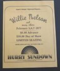 Willie Nelson 8.5x11 100% Original Concert Flyer Poster Feb 5 6 & 7 1977
