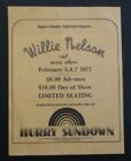 Willie Nelson 8.5x11 100% Original Concert Flyer Poster Feb 5 6 & 7 1977 #2 READ