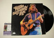 Willie Nelson And The Family Live Signed Record Album Lp Jsa Coa #k42468