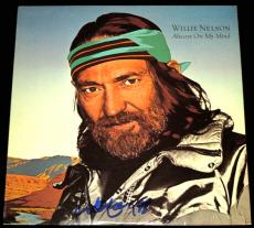 Willie Nelson Autographed Always On My Mind LP Record Album Cover