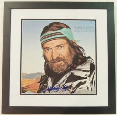 Willie Nelson Autographed Always On My Mind LP Record Album Cover BLACK CUSTOM FRAME