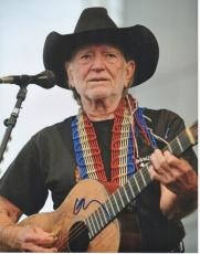Willie Nelson Signed - Autographed Concert 11x14 Photo - Country Music Legend
