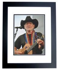 Willie Nelson Autographed Concert 11x14 Photo - Country Music Legend - BLACK CUSTOM FRAME