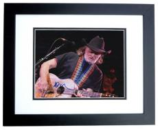 Willie Nelson Signed - Autographed Concert 11x14 Photo - Country Music Legend - BLACK CUSTOM FRAME