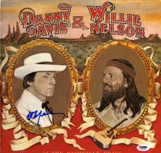 Willie Nelson Autographed Danny Davis Album Cover AFTAL UACC RD COA PSA