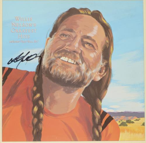 Willie Nelson Autographed Greatest Hits Album Cover - PSA/DNA COA