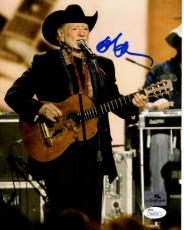 Willie Nelson Autographed Music 8x10 Photo - JSA