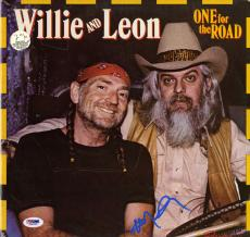 Willie Nelson Autographed One For The Road Album Cover AFTAL UACC RD COA PSA