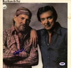 Willie Nelson Autographed San Antonio Rose Album Cover AFTAL UACC RD COA PSA