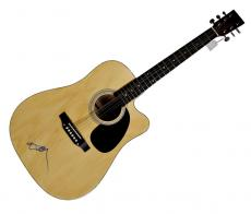 Willie Nelson Autographed Signed Acoustic Guitar w Exact Video Proof AFTAL