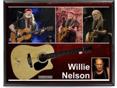 Willie Nelson Autographed Signed Acoustic  Guitar w Exact Video Proof & Display