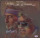 Willie Nelson Autographed Signed Ballads Album Cover AFTAL UACC RD COA PSA