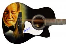 Willie Nelson Autographed Signed Custom Airbrushed Guitar Uacc
