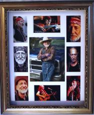 WILLIE NELSON Autographed Signed Framed Photo Display