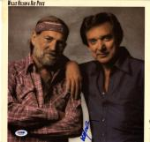Willie Nelson Autographed Signed Ray Price Album Cover AFTAL UACC RD COA PSA