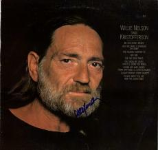 Willie Nelson Autographed Signed Sings Kristofferson Album Cover AFTAL UACC RD C