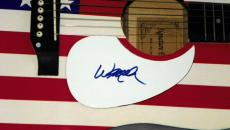 Willie Nelson Autographed Signed USA Flag Acoustic Guitar