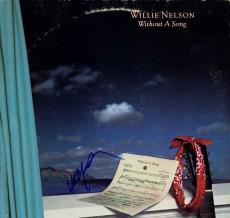 Willie Nelson Autographed Signed Without A Song Album Cover AFTAL UACC RD COA