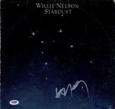 Willie Nelson Autographed Stardust Album Cover AFTAL UACC RD PSA