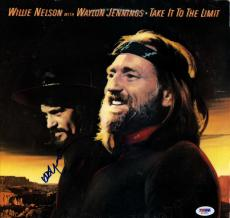 Willie Nelson Autographed Take It To The Limit Album Cover AFTAL UACC RD PSA