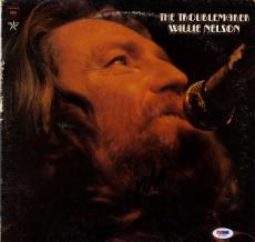 Willie Nelson Autographed The Troublemaker Album Cover AFTAL UACC RD COA PSA