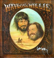 Willie Nelson Autographed Waylon & Willie Signed Album Lp
