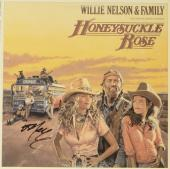Willie Nelson Autographed Willie Nelson & Family Honeysuckle Rose Album Cover - PSA/DNA COA