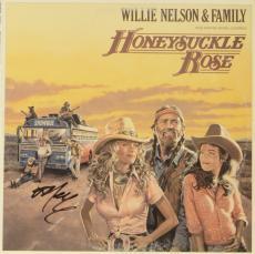 Willie Nelson Autographed Willie Nelson & Family Honeysuckle Rose Album Cover - PSA/DNA COA