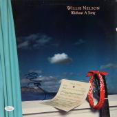 Willie Nelson Autographed Without A Song Album Cover - JSA COA