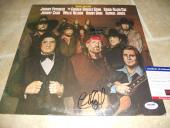 Willie Nelson Charlie Daniels Signed Autographed LP Album Record PSA Certified