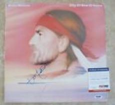 Willie Nelson City Of New Orleans Signed Autograph LP Album Record PSA Certified