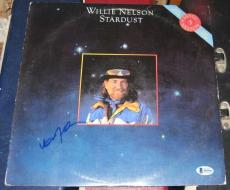 Willie Nelson Country Legend Signed Autographed 1985 Stardust Remake Album Bas